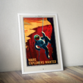 Retro Space Posters - Explorers Wanted