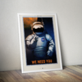 Retro Space Posters - We Need You